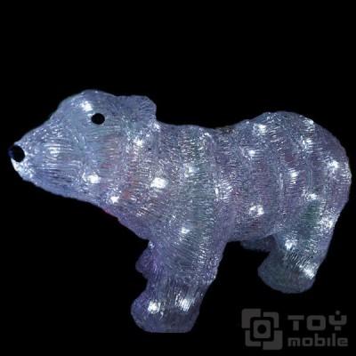 Светодиодная фигура из акрила «Медведь» (23см)