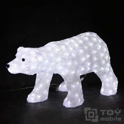 Светодиодная фигура из акрила «Медведь» (30х55см)