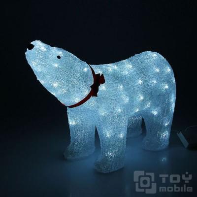 Светодиодная фигура из акрила «Медведь» (37х55см)