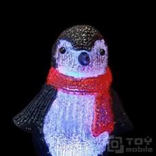 Акриловая фигура «Пингвин» на батарейках (21см)