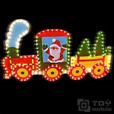 Светодиодное панно «Рождественский поезд» (78х47см)