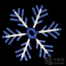 Светодиодная фигура «Снежинка» уличная, пластик (60х60см, 142 диода)