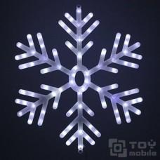 Светодиодная фигура «Снежинка» пластик (60х60см, 100 диодов)