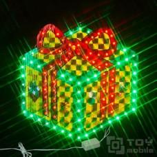 Светодиодное панно «Подарочная коробка», голографическая основа (43х42см,100 диодов)