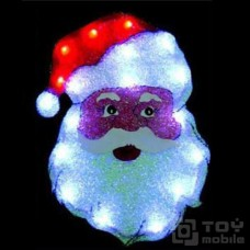 Светодиодное панно «Дед Мороз» (40x29см,18 диодов)
