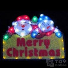Светодиодное панно «Санта и Снеговик » (54х39см,34 диода)