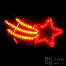 Фигура из дюралайта «Красная комета» (60х33см)