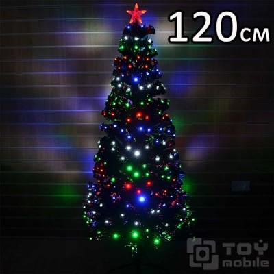 Оптоволоконная елка искусственная со светодиодами (120см)