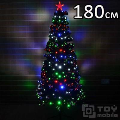 Оптоволоконная елка искусственная со светодиодами (180см)
