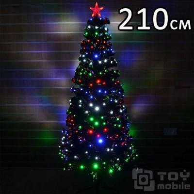 Оптоволоконная елка искусственная со светодиодами (210см)