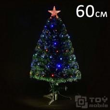 Искусственная светодиодная елка оптоволоконная (60см)