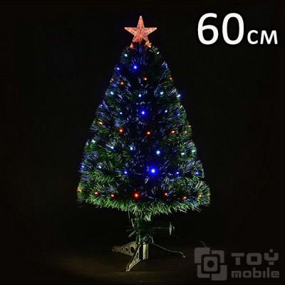 Оптоволоконная елка искусственная со светодиодами (60см)