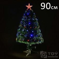 Искусственная светодиодная елка оптоволоконная (90см)