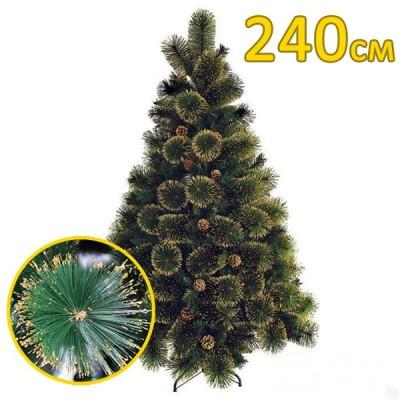Искусственная елка, сосна «Канадская золотая» золотые иголки (240см)