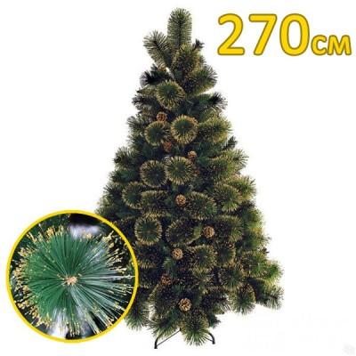 Искусственная елка, сосна «Канадская золотая» золотые иголки (270см)