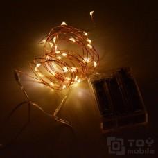 Гирлянда на батарейках нить «Роса» 20 ламп.