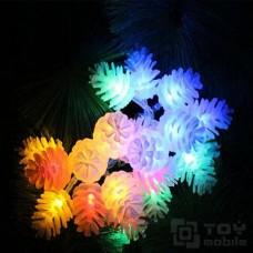 Гирлянда с насадками – еловые шишки 40 ламп