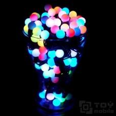 Гирлянда с насадками – мульти шарики 28 ламп