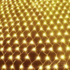 Светодиодная сетка 180 ламп (1,5х1,5м, прозрачный провод)