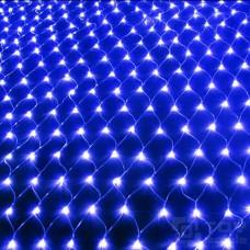 Светодиодная сетка 450 ламп (3х3м, прозрачный провод)