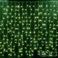 Светодиодный занавес 368 ламп (1,5х1,5м, прозрачный провод)