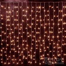 Светодиодный занавес 544 ламп (1,5х2,2м, прозрачный провод)