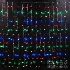 Светодиодный занавес 180 ламп (1,5х1,5м, прозрачный провод)