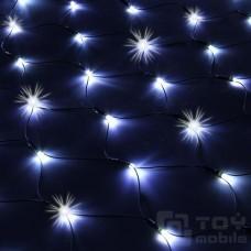 Уличная светодиодная сеть 320 ламп (1,9х1,6м, флеш, черная резина)