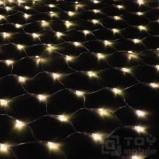 Уличная светодиодная сеть 300 ламп (2х1,5м, прозрачный провод)