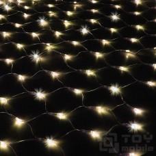 Уличная светодиодная сеть 300 ламп (2х1,5м, флеш, прозрачный провод)