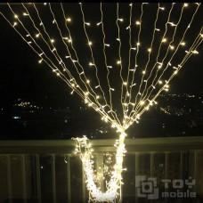 Уличный светодиодный занавес  480 ламп (3х3м,IP54,прозрачный провод)