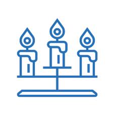 Рождественские горки и свечи