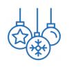 Елочные шары, игрушки, украшения, подвески, верхушка на елку звезда