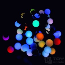 Уличная гирлянда «Шарики RGB» 36 ламп (4м, IP54)