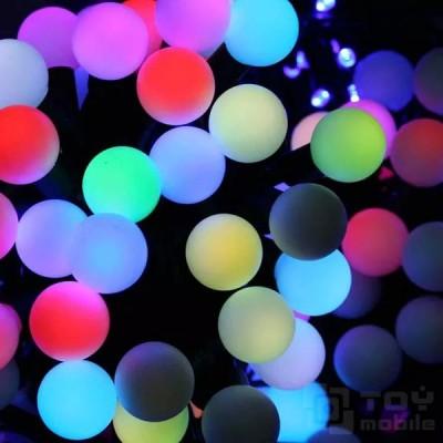 Гирлянда цветные шарики для улицы 100LED IP54 (15м)
