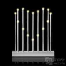Светильник «Пылающее сердце» из свечей (16 свечей)