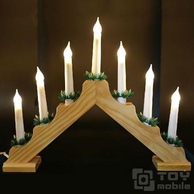 Светильник рождественская горка (7 ламп накаливания)