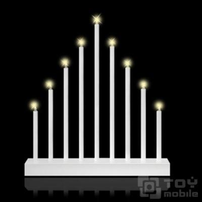Светильник рождественская горка из свечей (9 светодиодов)