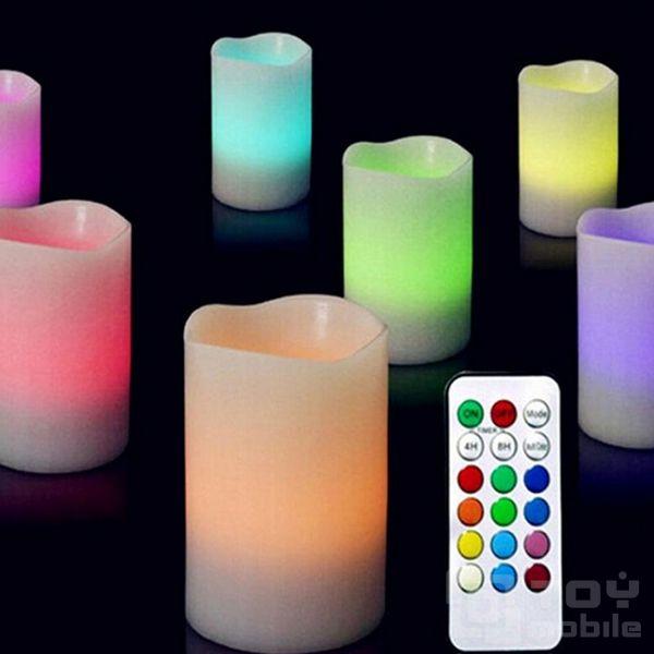 тающая свеча с пультом